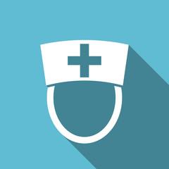 nurse flat icon hospital sign