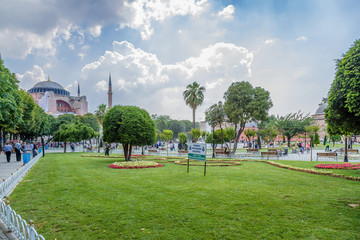 Istanbul, Turkey. Sultanahmet Square and Saint Sophia Cathedral, 537