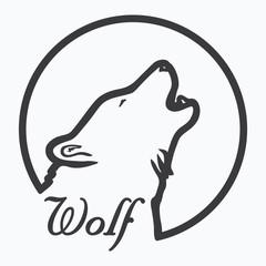 WOLF SYMBOL illustration vector
