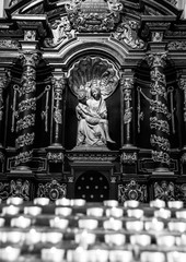 catholic church interior details