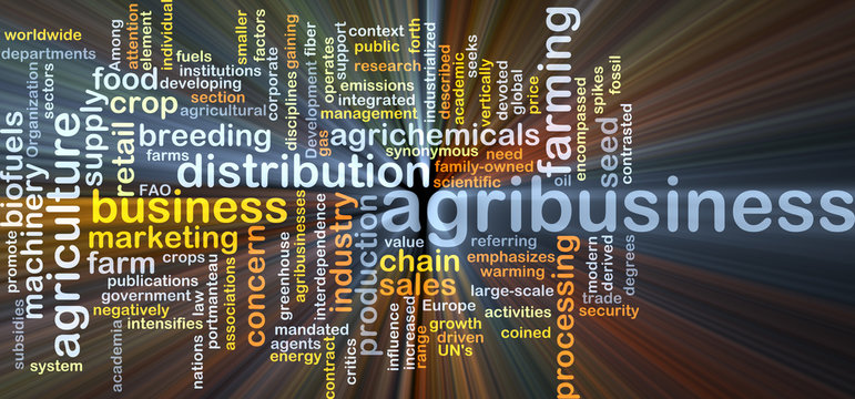 Agribusiness background concept glowing