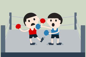 boxing cartoon vector