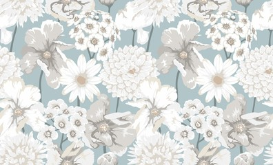 Albie Floral Pattern Wall mural