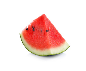 Slice of watermelon isolated on a white background.