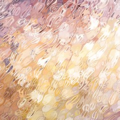 glass texture background with ripples and spots of gold and pink colors, elegant glossy background blur with creative artsy style