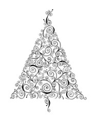 Curlicue Retro Christmas Tree