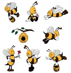 Bee Character set collection