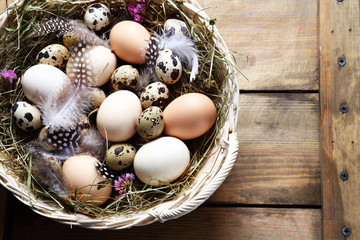 rustic easter eggs
