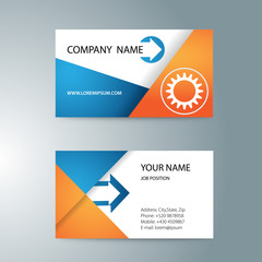 modern template double-sided business cards for printing with
