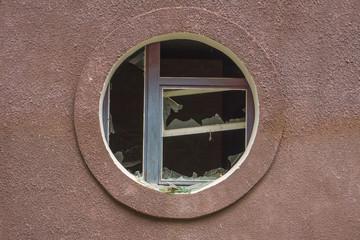 Circular window in an wall