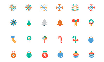Christmas Colored Vector Icons 1