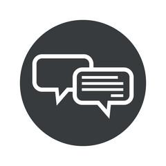 Monochrome round chatting icon