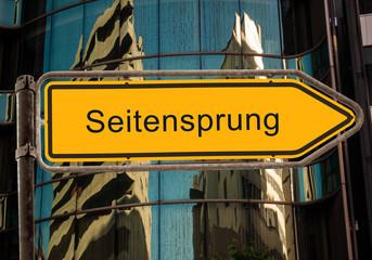 Strassenschild 42 - Seitensprung