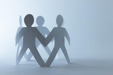 Menschenkreis - Mitarbeiter - Teamwork - Solidariät zeigen, Konzept