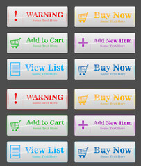 6 color buttons for shopping page