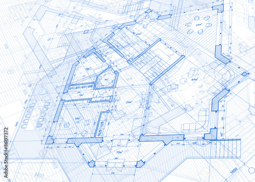 Architecture blueprint house plans vector illustration stock architecture blueprint house plans vector illustration malvernweather Image collections