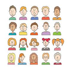 Big vector set cartoon avatars
