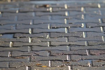 texture tile paved roadway