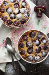 Cherries clafoutis