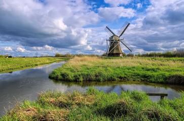 Fond de hotte en verre imprimé Moulins Wedelfelder Muehle - windmill Wedelfeld 02