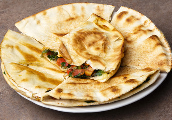 Mexican quesadillas.
