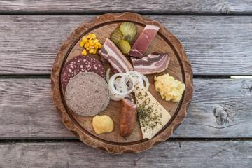 Wurst und Käse Vesper