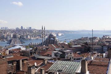 Вид на Новую мечеть, Галатский мост. Стамбул.