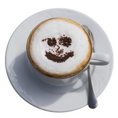 Cappuccino mit Gesicht