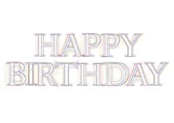 Vector word Happy Birthday