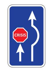 Stop crisis signal vector