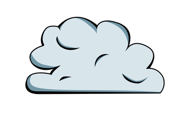 Vector drawing of a cloud