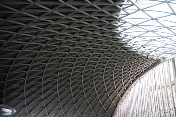 Modern ceiling of King's Cross Train Station
