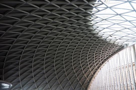 Modern ceiling of King's Cross Train Station