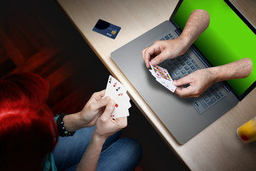 poker player bet on online casino pay with credit card in office