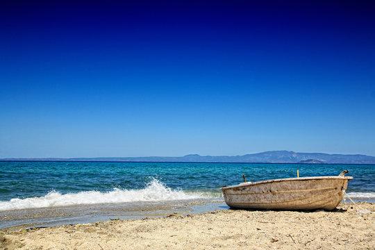 Griechenland Boot am Meer
