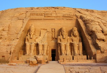 Photo sur cadre textile Egypte The temple of Abu Simbel in Egypt