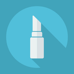 Flat modern design with shadow icon lipstick