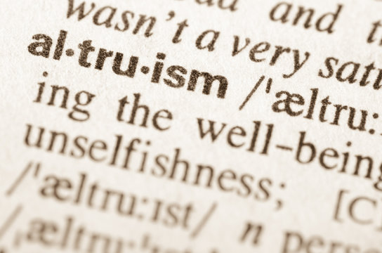 Dictionary definition of word altruism
