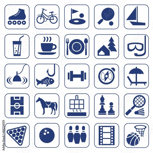 u0026quot icons  leisure  entertainment  leisure  hobbies  monochrome  flat   u0026quot  stock image and royalty