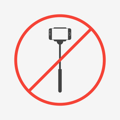 No selfie sticks icon