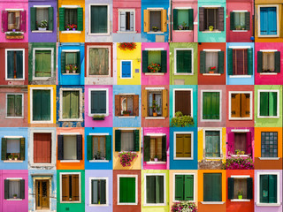 Fototapeta Windows colorful Burano