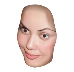 Face isolated