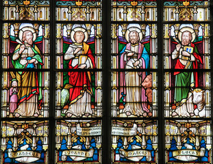 Stained Glass depicting the Four Evangelists
