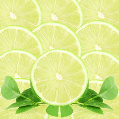 lemon lime fruit slice as background