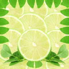 lemon lime fruit slice as background
