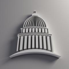 3D Capitol white logo