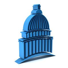 3D Capitol building logo