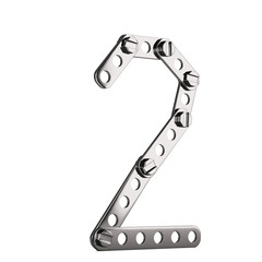 Number 2 made from metall construktor. 3d