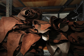 Leather selection / stock of leather