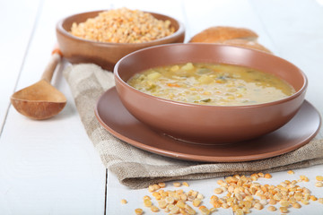 Delicious pea soup